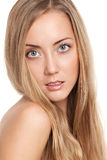 Retrato de un modelo femenino hermoso Fotos de archivo