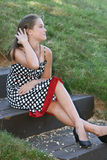 Retrato de un modelo femenino joven Foto de archivo