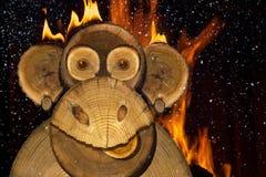 Retrato de un mono del fuego de los Años Nuevos Imágenes de archivo libres de regalías