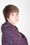 Retrato de un muchacho adolescente Foto de archivo libre de regalías