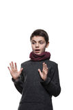 Retrato de un muchacho adolescente Fotos de archivo