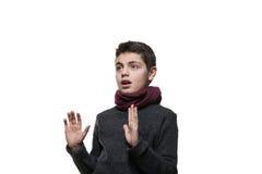 Retrato de un muchacho adolescente Imagen de archivo