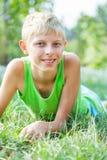Retrato de un muchacho catorce años Fotografía de archivo