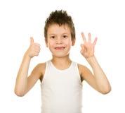 Retrato de un muchacho en ropa interior con el pelo mojado Fotografía de archivo
