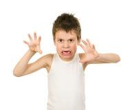 Retrato de un muchacho en ropa interior con el pelo mojado Foto de archivo