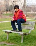 Retrato de un muchacho indio Foto de archivo libre de regalías