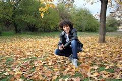 Retrato de un muchacho rizado hermoso Fotografía de archivo