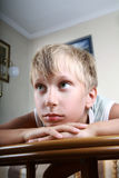 Retrato de un niño triste hermoso Fotografía de archivo