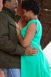 Retrato de un par cariñoso afroamericano Fotografía de archivo
