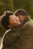 Retrato de un par cariñoso afroamericano Imagen de archivo