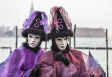 Retrato de un par disfrazado Imagen de archivo libre de regalías
