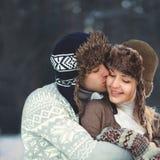 Retrato de un par joven feliz hermoso en amor Fotografía de archivo libre de regalías