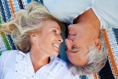 Retrato de un par romántico feliz Imagen de archivo libre de regalías