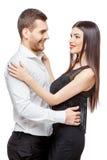 Retrato de un par sonriente feliz joven hermoso foto de archivo libre de regalías