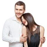 Retrato de un par sonriente feliz joven hermoso fotografía de archivo