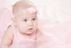 Retrato de un pequeño bebé Imagen de archivo libre de regalías