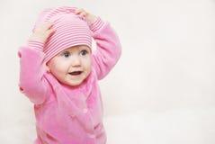 Retrato de un pequeño bebé Fotografía de archivo