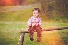 Retrato de un pequeño niño Imágenes de archivo libres de regalías