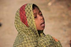 Retrato de un pequeño niño del vagabundo Cabrito sin hogar Foto de archivo