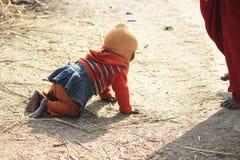 Retrato de un pequeño niño del vagabundo Cabrito sin hogar Fotografía de archivo libre de regalías