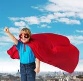 Retrato de un pequeño super héroe Fotos de archivo libres de regalías