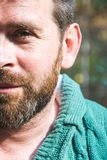 Retrato de un primer barbudo del hombre Foto de archivo