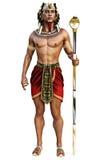 Retrato de un varón egipcio que lleva el equipo tradicional en un fondo blanco aislado libre illustration
