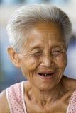 Retrato de un viejo asiático Imagen de archivo libre de regalías