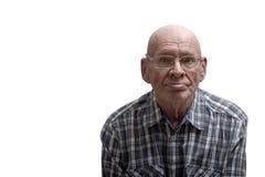 Retrato de un viejo hombre Front View foto de archivo