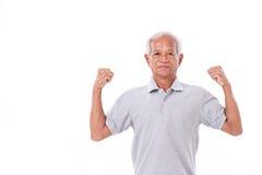 Retrato de un viejo hombre fuerte Imágenes de archivo libres de regalías