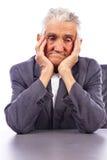 Retrato de un viejo hombre pensativo Imagen de archivo