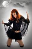 Retrato de una bruja joven Foto de archivo
