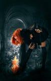 Retrato de una bruja joven Fotografía de archivo