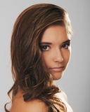 Retrato de una cara hermosa de la muchacha Fotos de archivo