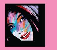 Retrato de una cara de la mujer libre illustration