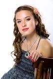 Retrato de una chica joven bonita con la piel limpia Fotos de archivo libres de regalías