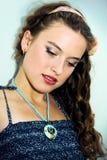 Retrato de una chica joven bonita con la piel limpia Imágenes de archivo libres de regalías