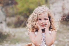 Retrato de una chica joven hermosa Imágenes de archivo libres de regalías