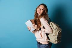 Retrato de una estudiante alegre sonriente Fotos de archivo