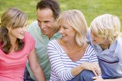 Retrato de una familia imagen de archivo