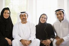 Retrato de una familia de Oriente Medio imagenes de archivo