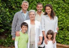 Retrato de una familia feliz Fotos de archivo libres de regalías