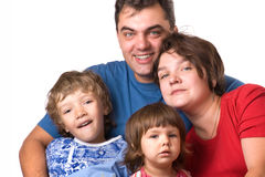Retrato de una familia joven foto de archivo