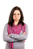 Retrato de una hembra joven emocional Imagen de archivo libre de regalías