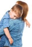 Retrato de una madre con su hijo imagen de archivo libre de regalías