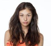 Retrato de una morenita sin maquillaje Imagenes de archivo
