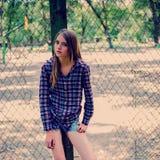 Retrato de una muchacha adolescente Imagen de archivo libre de regalías