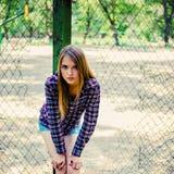 Retrato de una muchacha adolescente Imagen de archivo