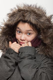Retrato de una muchacha adolescente en estudio Foto de archivo libre de regalías