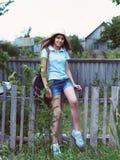 Retrato de una muchacha adolescente feliz hermosa Imagen de archivo libre de regalías